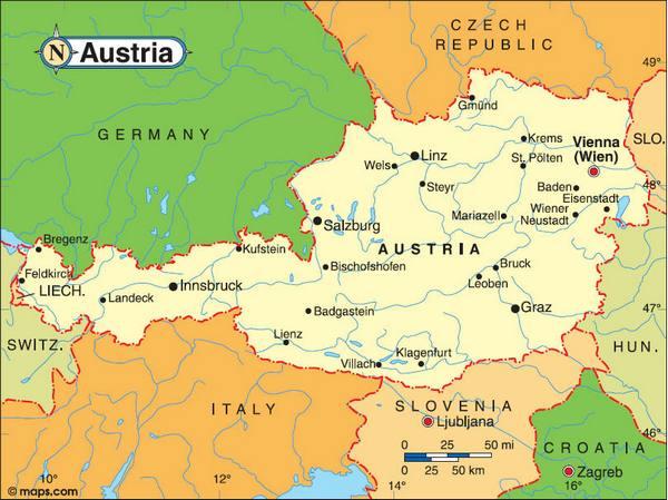Austria-Tourist-Map