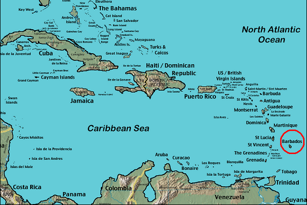 map of caribbean_cr